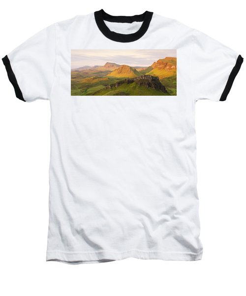First Light Trotternish Panorama Baseball T-Shirt