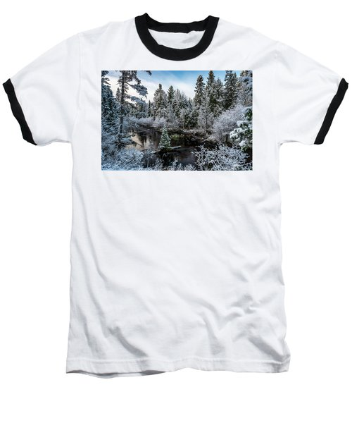 First Snow On Grand Marais Creek Baseball T-Shirt