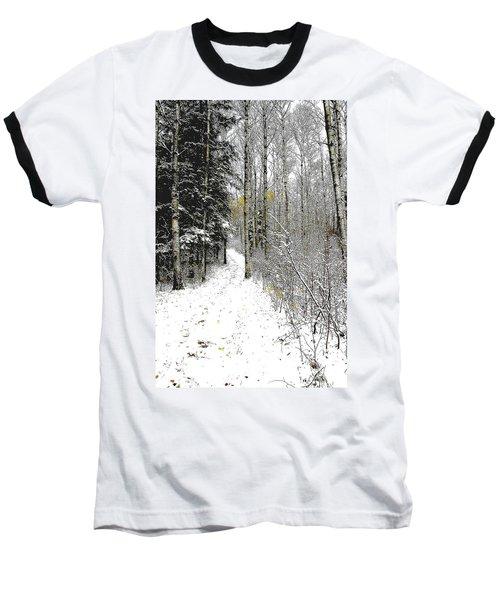 First Snowfall Baseball T-Shirt