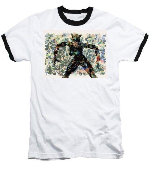 Fish And Kitty Baseball T-Shirt