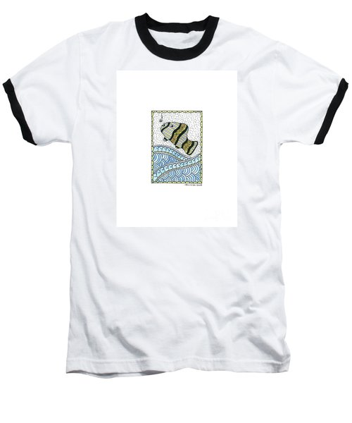Fish In The Sea Baseball T-Shirt by Billinda Brandli DeVillez