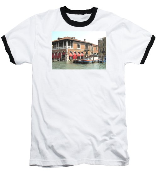Fish Market Venise Baseball T-Shirt by Lisa Boyd