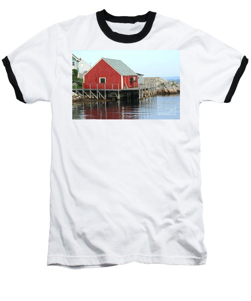 Fishermans House On Peggys Cove Baseball T-Shirt