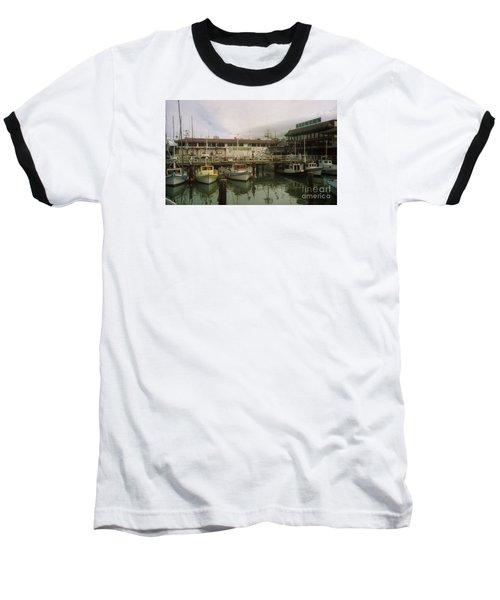 Fishermans Wharf Boats Baseball T-Shirt