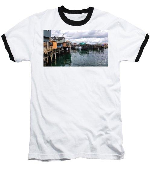 Fisherman's Wharf Monterey II Baseball T-Shirt by Gina Savage
