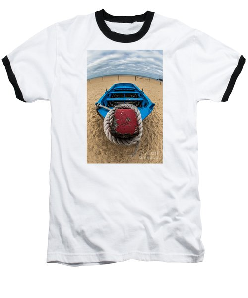 Little Blue Fishing Boat Baseball T-Shirt