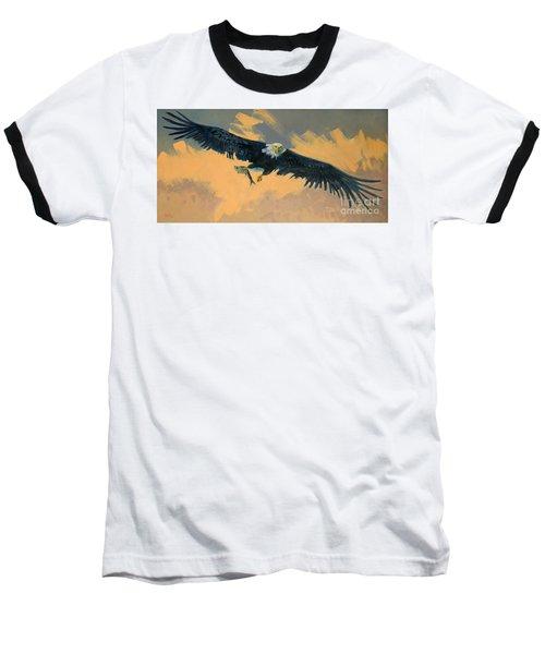 Fishing Eagle Baseball T-Shirt