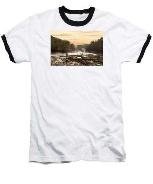 Fishing In The Mist Baseball T-Shirt