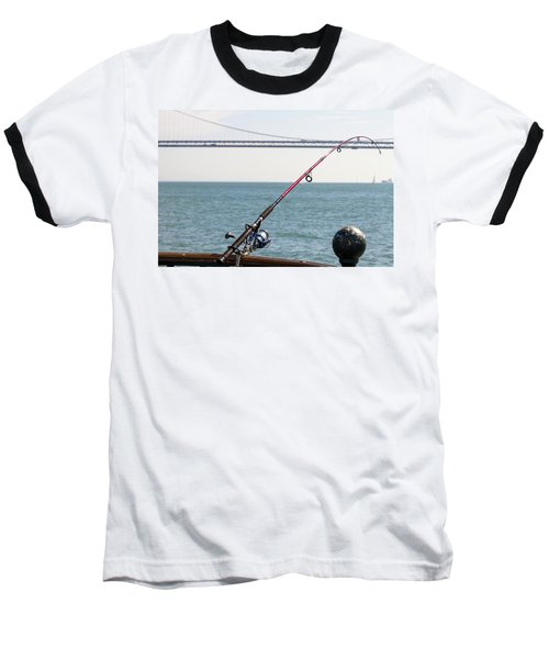 Fishing Rod On The Pier In San Francisco Bay Baseball T-Shirt