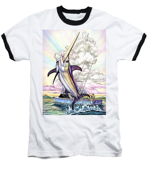 Fishing Swordfish Baseball T-Shirt
