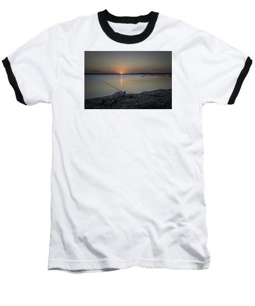 Fishing Poles Baseball T-Shirt by Leticia Latocki