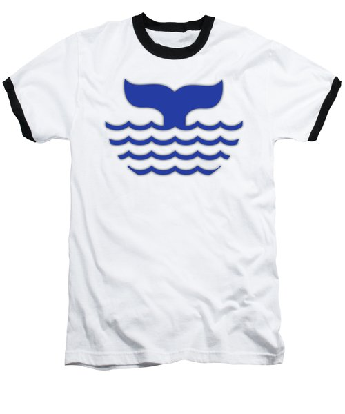 Fishtail In Blue Baseball T-Shirt