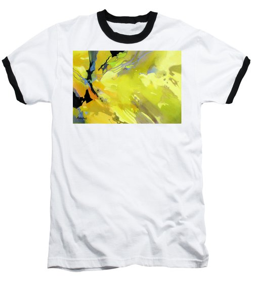 Baseball T-Shirt featuring the painting Fissures Of Time by Rae Andrews