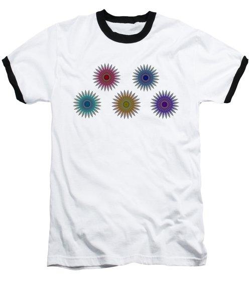 Five Flowers Baseball T-Shirt