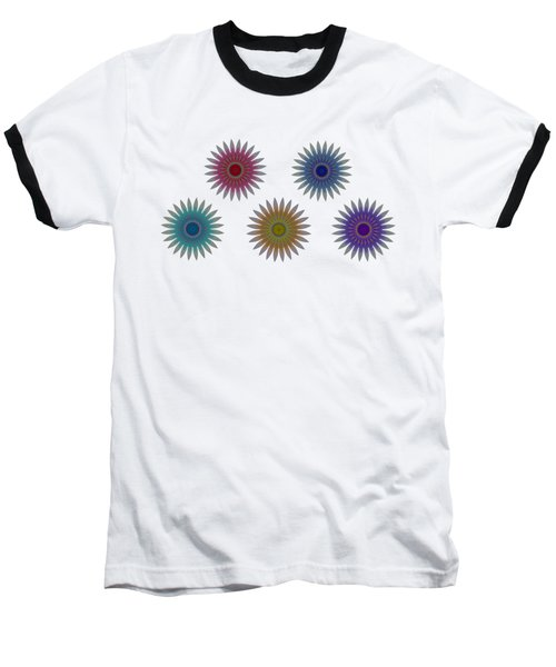 Five Flowers Baseball T-Shirt