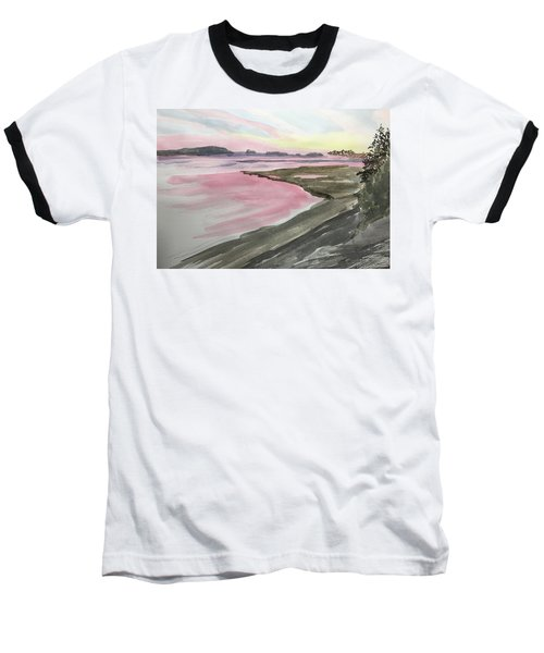Five Islands - Watercolor Sketch  Baseball T-Shirt by Joel Deutsch