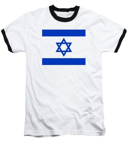 Flag Of Israel Authentic Version Baseball T-Shirt