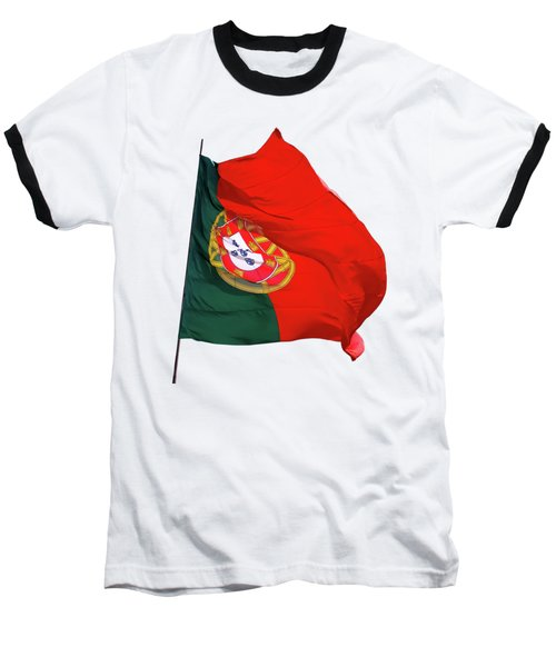 Baseball T-Shirt featuring the photograph Flag Of Portugal by Menega Sabidussi