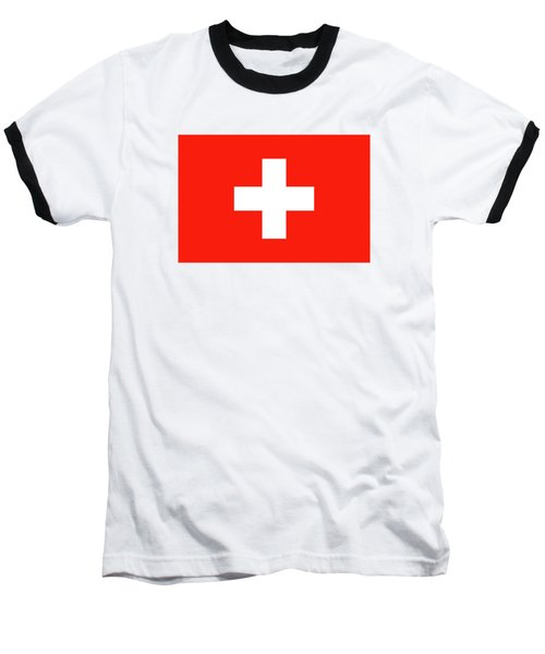 Flag Of Switzerland Baseball T-Shirt by Bruce Stanfield