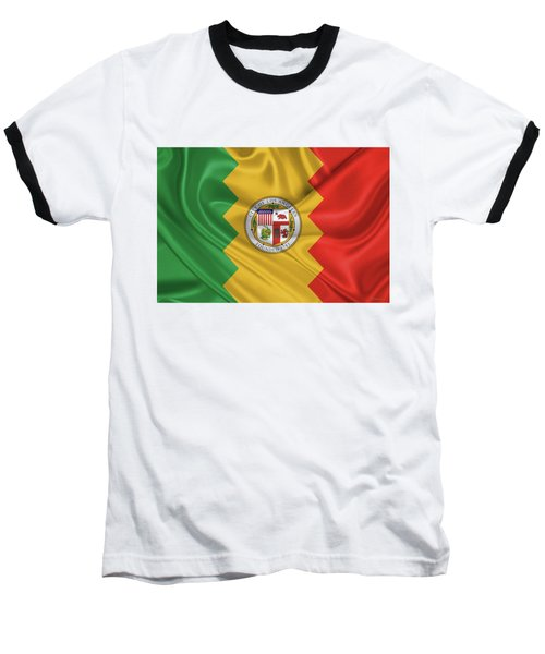 Flag Of The City Of Los Angeles Baseball T-Shirt by Serge Averbukh