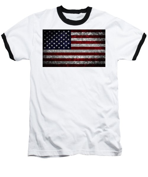 Flag Of The United States Baseball T-Shirt by Martin Capek