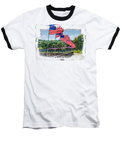 Flag Walk Baseball T-Shirt by John M Bailey