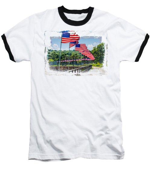 Flag Walk Baseball T-Shirt