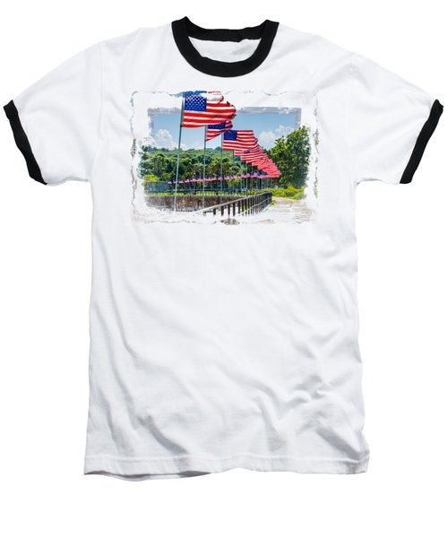 Flag Walk Baseball T-Shirt