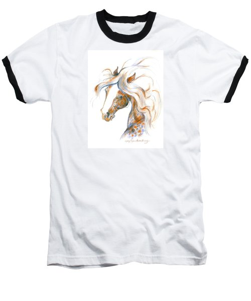 Baseball T-Shirt featuring the painting Flair by Mary Armstrong