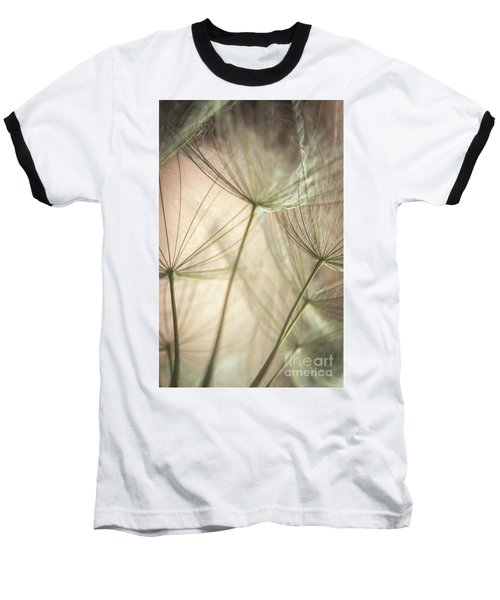 Flamingo Dandelions Baseball T-Shirt