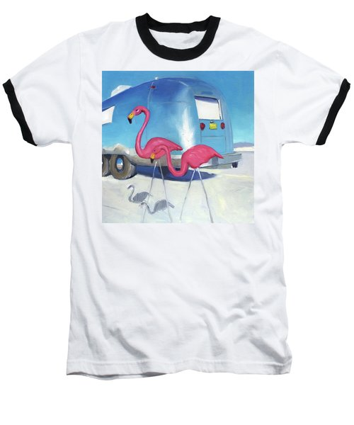 Flamingo Migration Baseball T-Shirt