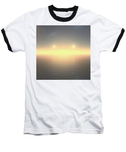 Baseball T-Shirt featuring the digital art Flat Lights by Robert Thalmeier