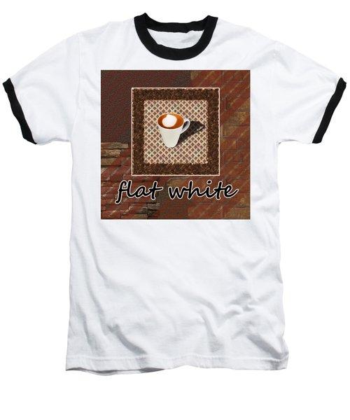 Baseball T-Shirt featuring the photograph Flat White - Coffee Art by Anastasiya Malakhova