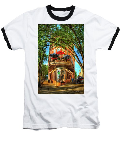 Flatiron Style Pickle Barrel Building Chattanooga Tennessee Baseball T-Shirt by Reid Callaway