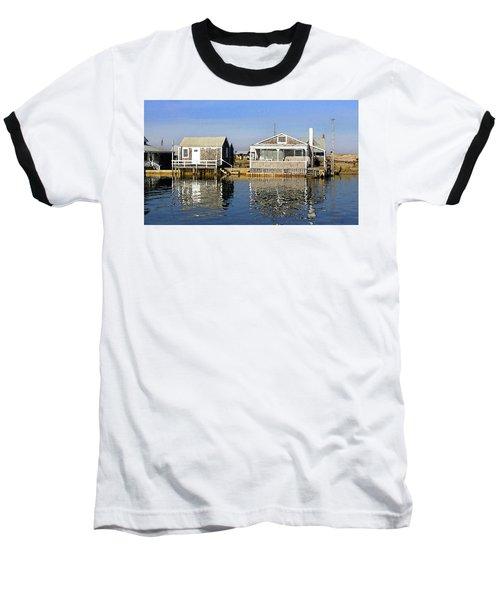 Fletchers Camp And The Little House Sandy Neck Baseball T-Shirt