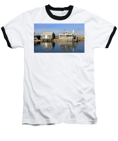 Fletchers Camp And The Little House Sandy Neck Baseball T-Shirt