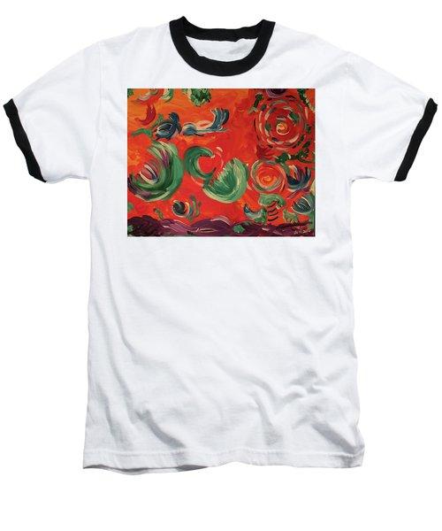 Flight Of Lotus Baseball T-Shirt