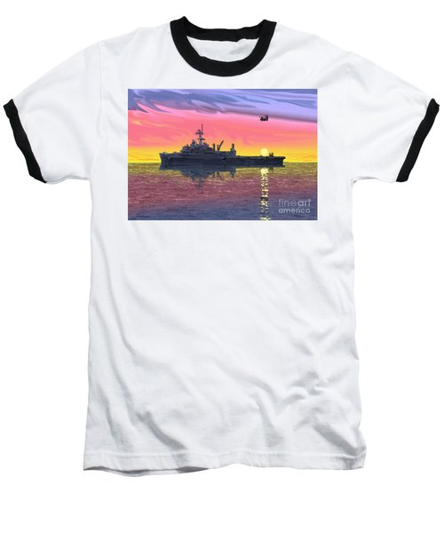 Flight Ops At Sunset Baseball T-Shirt by Donald Maier