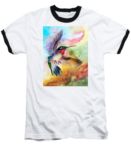 Da198 Flit The Hummingbird By Daniel Adams Baseball T-Shirt