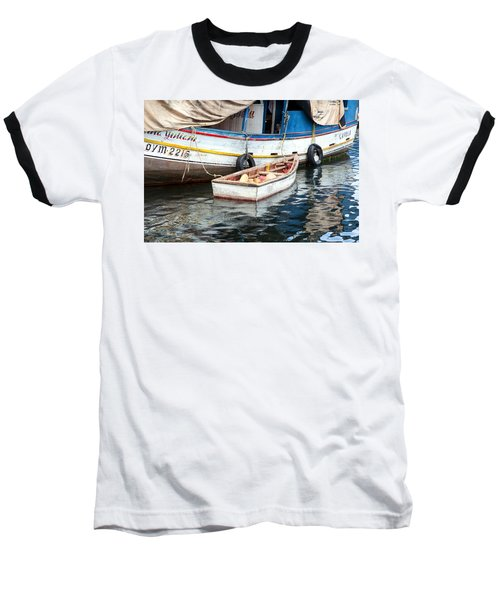 Floating Market Baseball T-Shirt by Allen Carroll