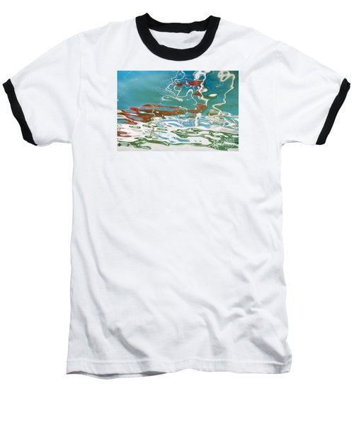 Floating On Blue 35 Baseball T-Shirt by Wendy Wilton