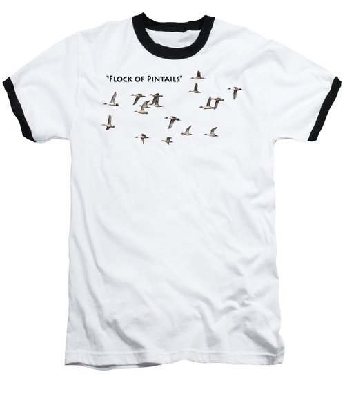 Flock Of Pintails Baseball T-Shirt by Thomas Young