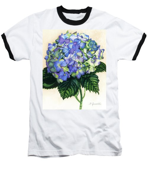 Baseball T-Shirt featuring the painting Floral Favorite by Barbara Jewell