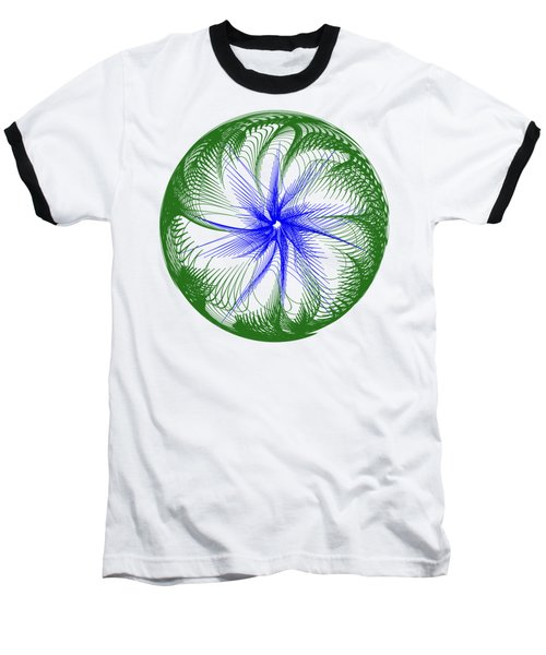 Floral Web - Green Blue By Kaye Menner Baseball T-Shirt