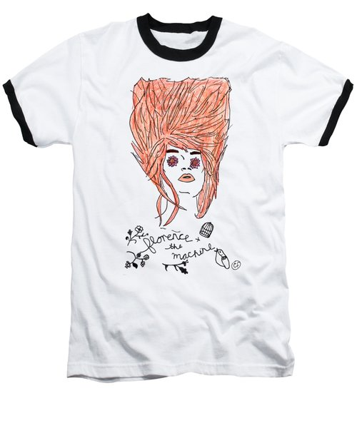 Florence And The Machine Baseball T-Shirt by Lucy Frost