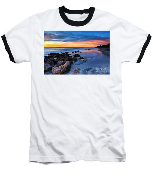 Florida Beach Sunset 3 Baseball T-Shirt