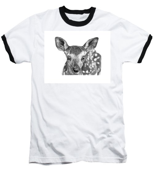 Florry The Fawn Baseball T-Shirt by Abbey Noelle