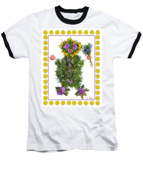 Flower Baby Baseball T-Shirt by Lise Winne