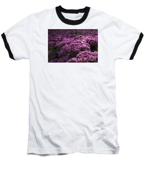 Baseball T-Shirt featuring the photograph Sedum Flower Detail by Inge Riis McDonald