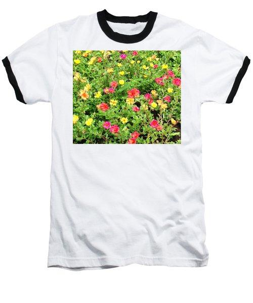 Flower Garden Baseball T-Shirt by Karen Nicholson